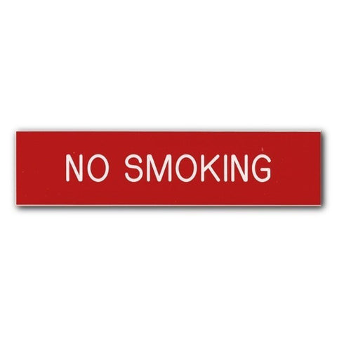 Engraved - No Smoking - 2x8