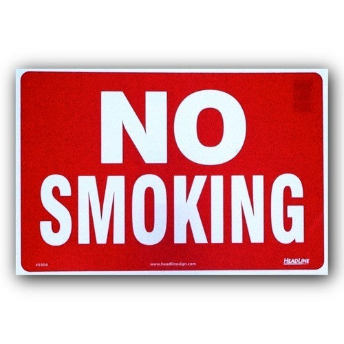 Plastic Indoor/Outdoor - No Smoking- 8x12