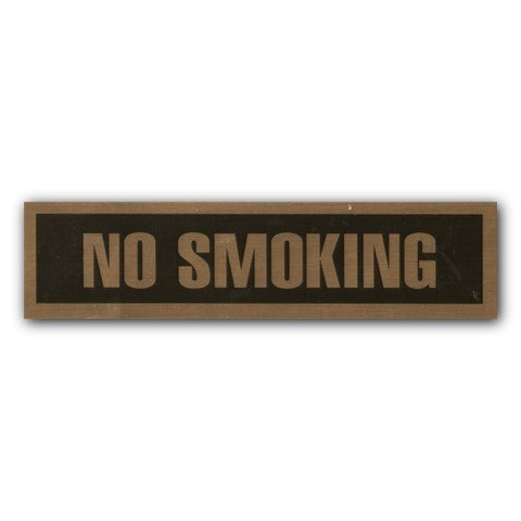 Mylar Stick On - No Smoking - 2x8