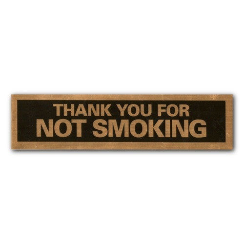 Mylar Stick-on - Thank You For Not Smoking - 2x8