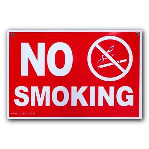 Plastic Indoor/Outdoor - No Smoking w/Symbol - 8x12