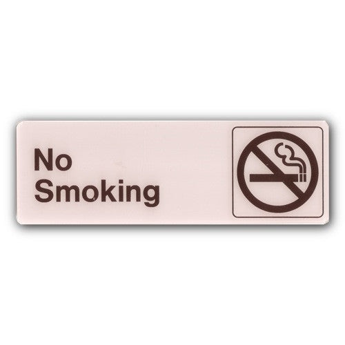 Deco - No Smoking Sign - 3x9