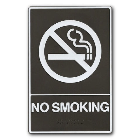 Braille/ADA - No Smoking Sign - 6x9