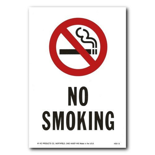 Weatherproof Vinyl Sticker - No Smoking - 6.75x10
