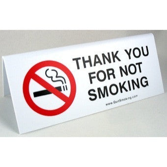 Thank You For Not Smoking Tabletop Sign