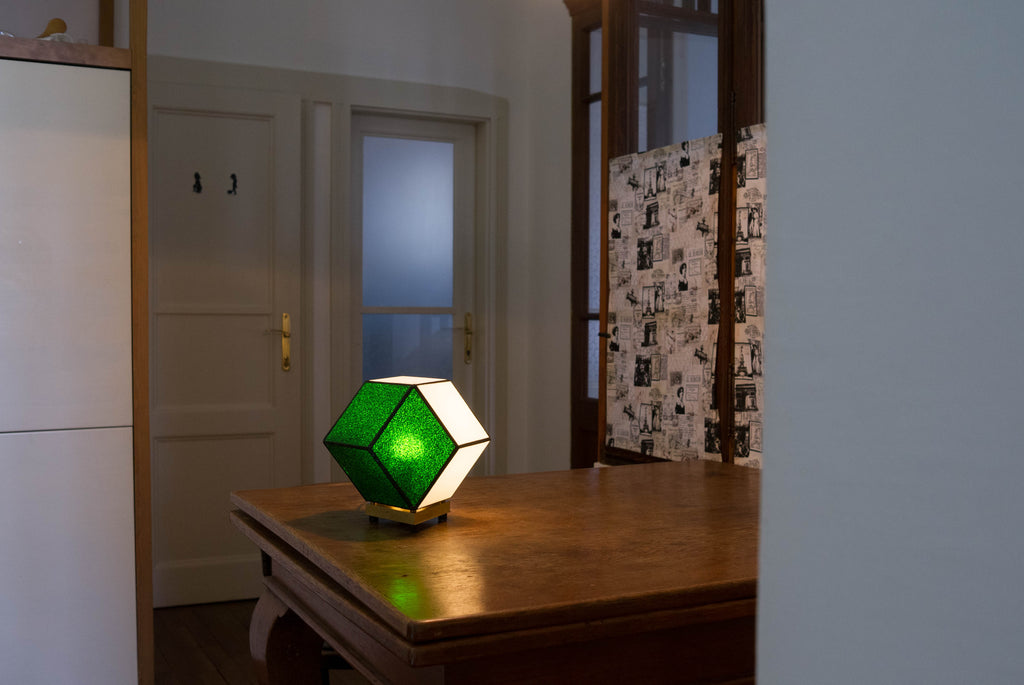 Minimalist glass table lamp