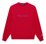Billionaire Boys Club Embroidered Crewneck: RED