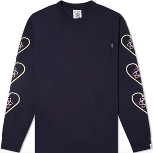 Load image into Gallery viewer, BBC Heart & Mind L/S T-Shirt NAVY HemingCo