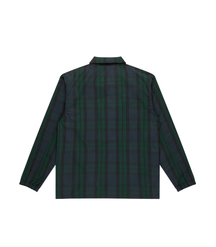 Load image into Gallery viewer, BBC Plaid Shell Coach Jacket Navy Hemingco