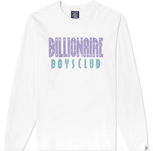 Load image into Gallery viewer, BBC Straight Logo L/S T-Shirt White HemingCo
