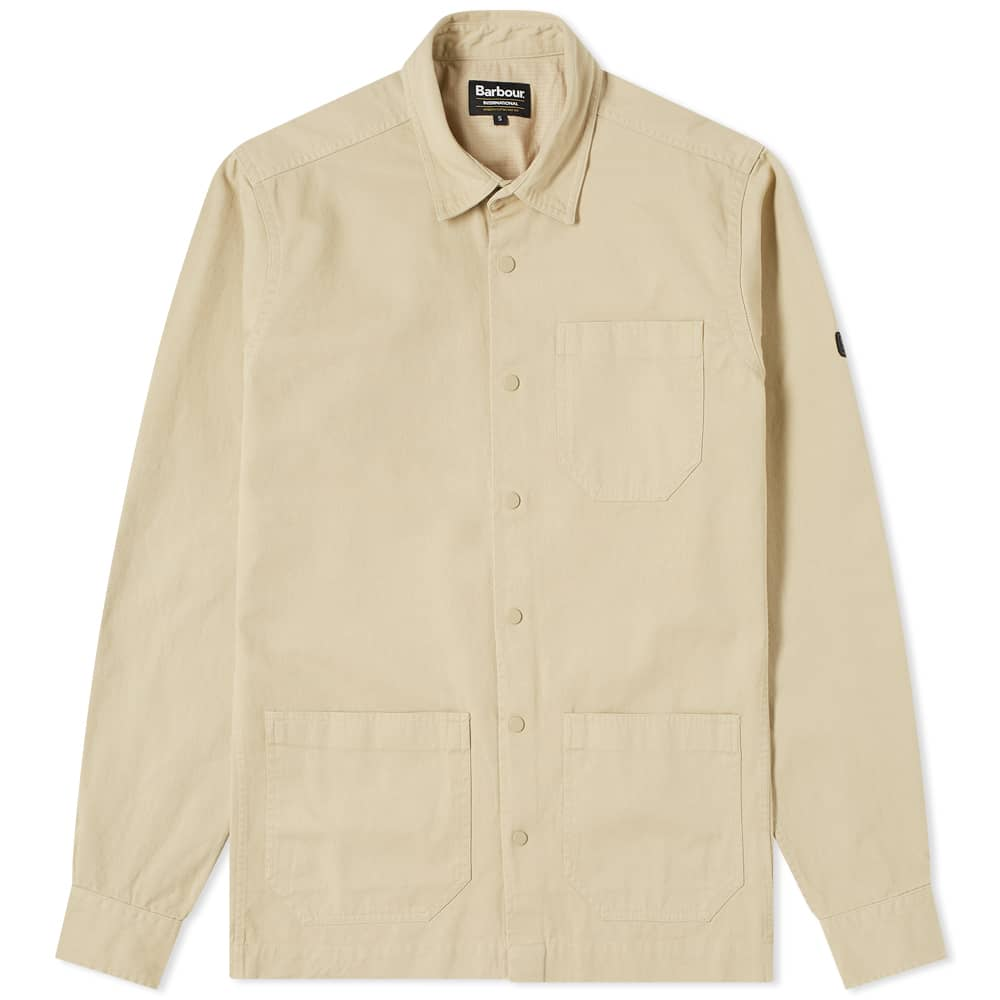 Load image into Gallery viewer, Barbour International Worker Overshirt Stone HemingCo