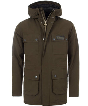 Load image into Gallery viewer, Barbour International Endo Waterproof Jacket: OLIVE