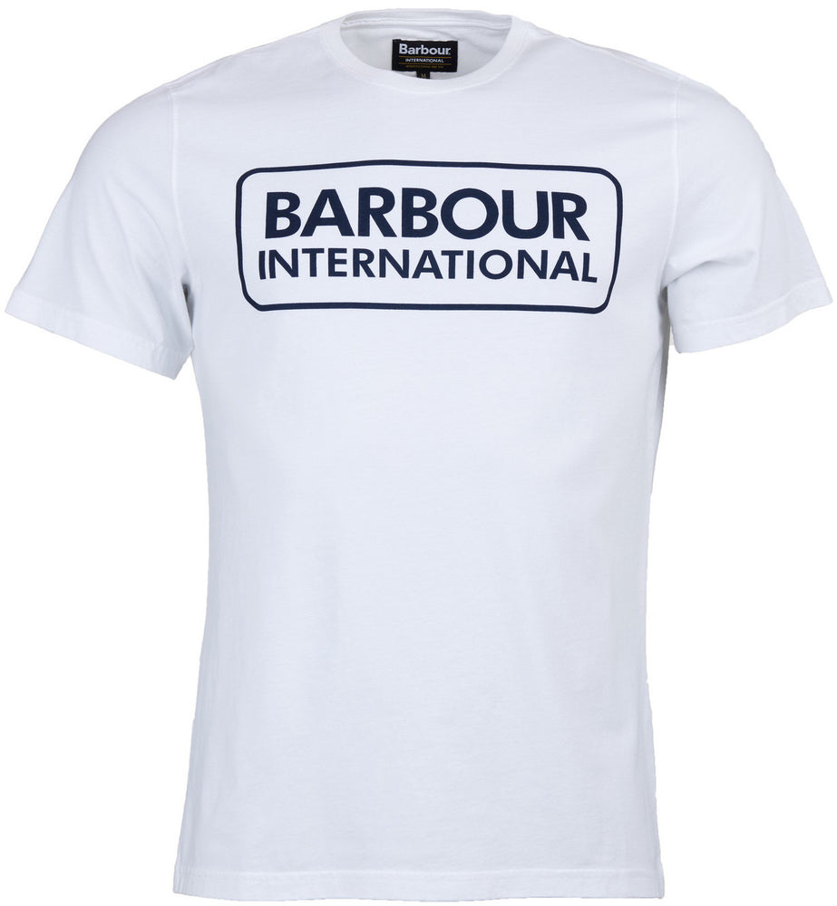Barbour Int Large Logo T-Shirt White HemingCo