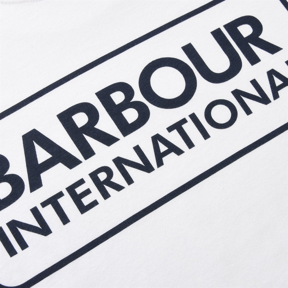 Load image into Gallery viewer, Barbour Int Large Logo T-Shirt White HemingCo
