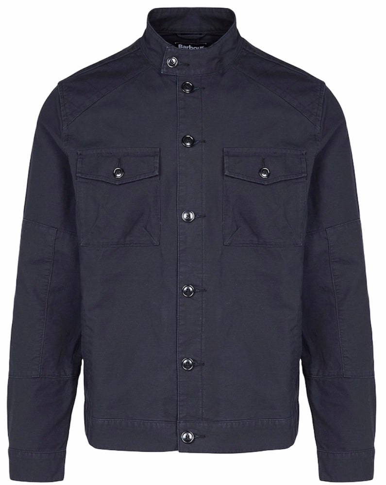 Barbour International Biker Overshirt Black HemingCo