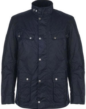 Load image into Gallery viewer, Barbour International Duke Wax Jacket: NAVY