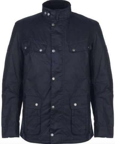 Barbour International Duke Wax Jacket: NAVY