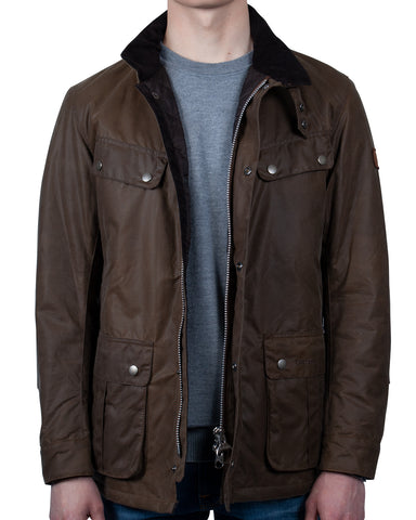 Barbour International Duke Wax Jacket: BROWN