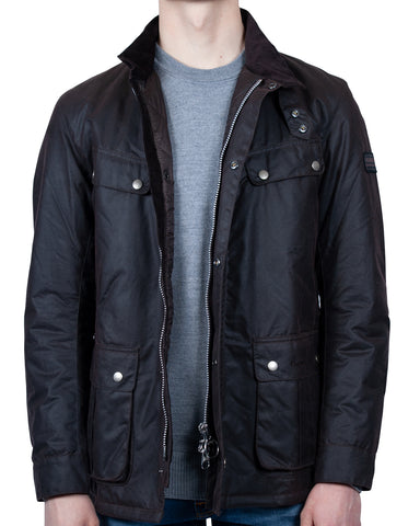 Barbour International Duke Wax Jacket: RUST