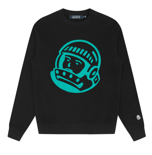 Load image into Gallery viewer, Billionaire Boys Club Astro Embroidered Sweatshirt: BLACK