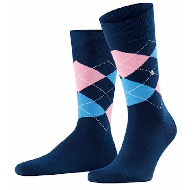 Burlington King Socks Navy/Pink HemingCo