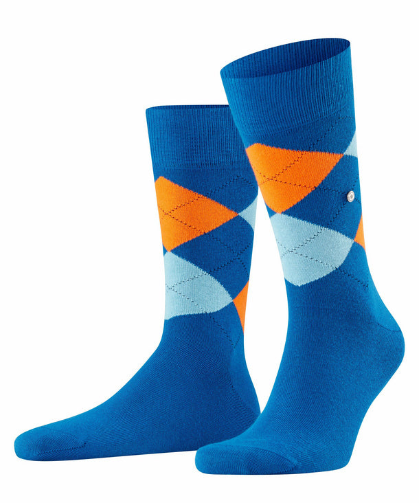 Burlington King Sock Blue/Orange Hemingco