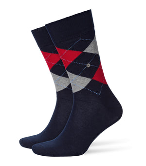 Burlington King Socks Navy/Red HemingCo