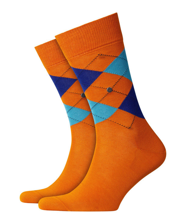 Burlington Manchester Socks Orange HemingCo 1