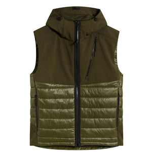 Load image into Gallery viewer, C.P Company Goggle Gilet Green HemingCo