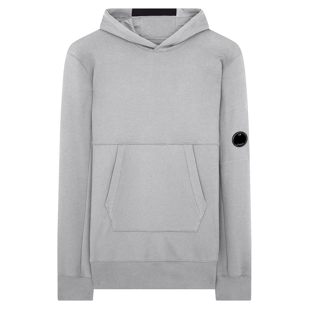 C.P Company Diagonal Fleece Lens Hoodie Grey HemingCo
