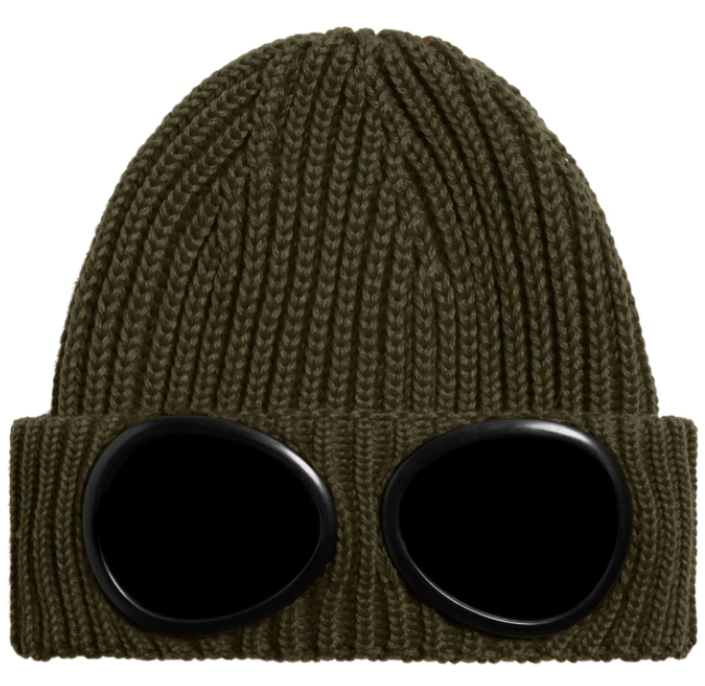 Load image into Gallery viewer, C.P Company Goggle Beanie Hat Green HemingCo