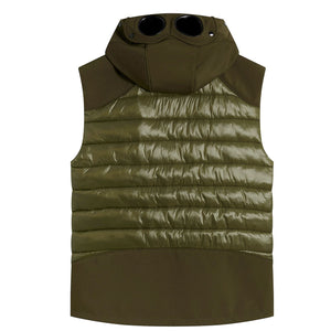 Load image into Gallery viewer, C.P Goggle Gilet Green HemingCo