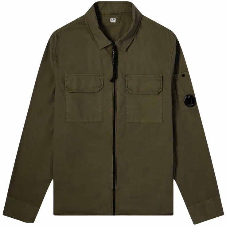 C.P Lens Overshirt Green HemingCo