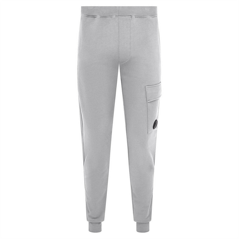 CP Diagonal Fleece Tracksuit Bottoms Grey HemingCo