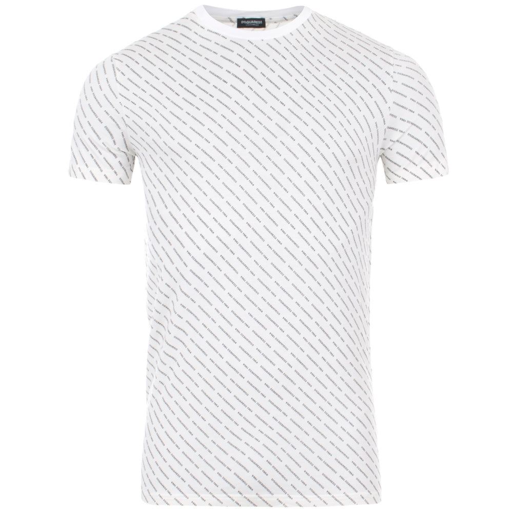 DSquared2 All Over Print T-Shirt White HemingCo