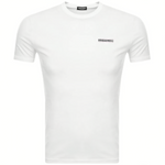 DSquared2 2 Chest Logo T-Shirt White HemingCo