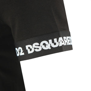DSquared2 Cuff Sleeve T-Shirt Black HemingCo