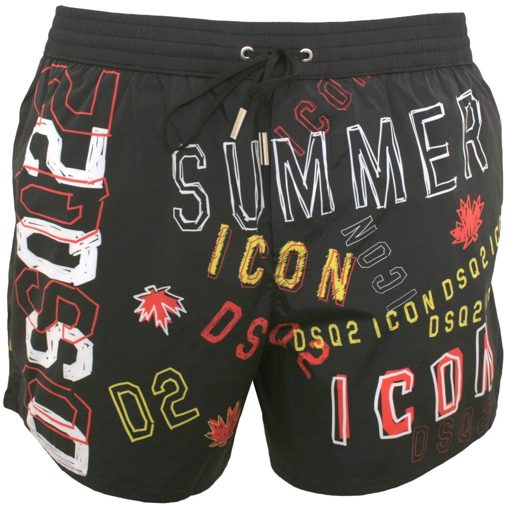 Load image into Gallery viewer, D2 Icon Swim Shorts Black HemingCo