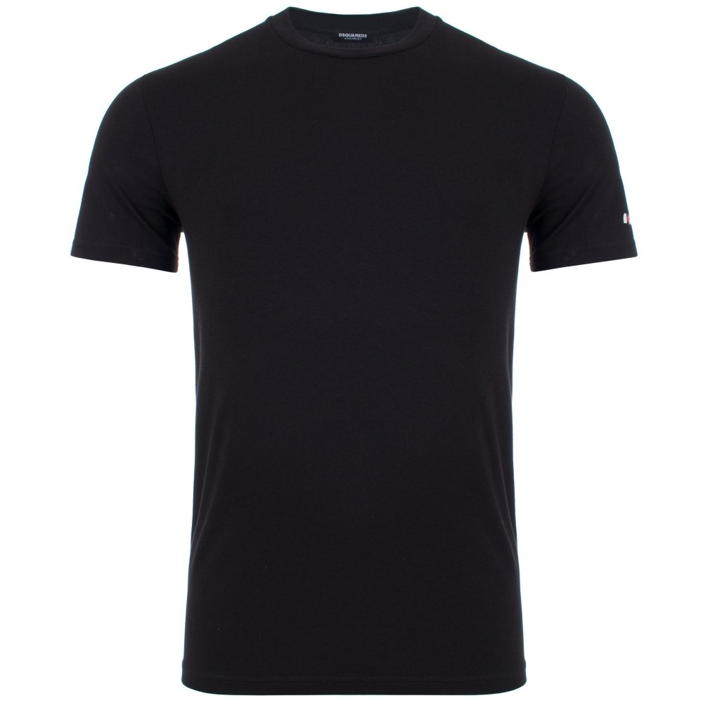 Load image into Gallery viewer, DSquared2 Large Sleeve Logo T-Shirt: BLACK