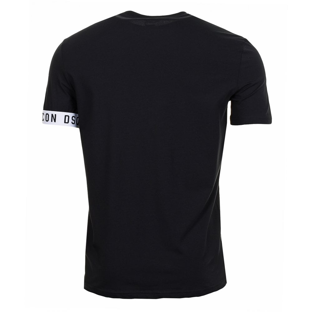 DSquared2 Sleeve Band Logo T-Shirt Black HemingCo