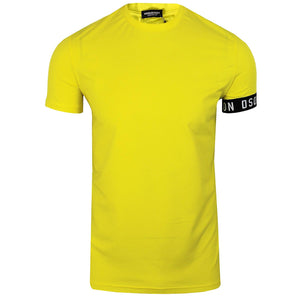 Load image into Gallery viewer, DSquared2 Sleeve Band Logo T-Shirt Yellow HemingCo