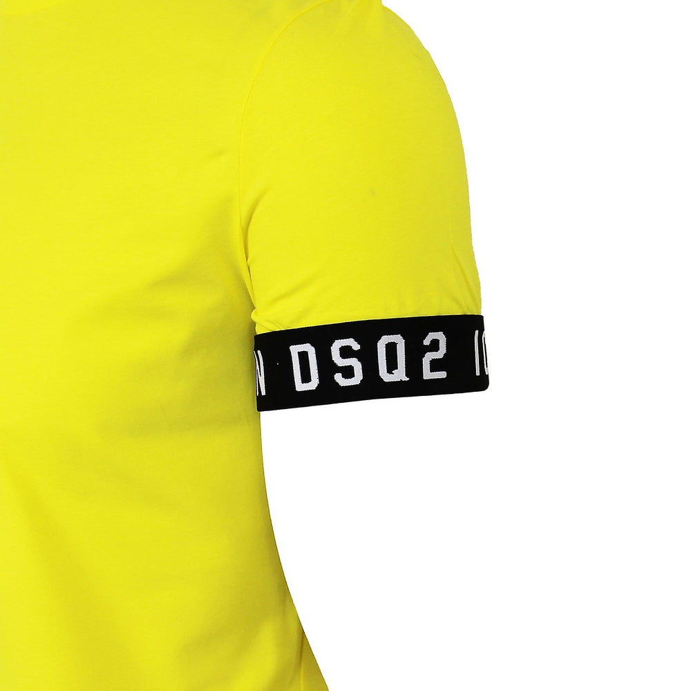 DSquared2 Sleeve Band Logo T-Shirt Yellow HemingCo