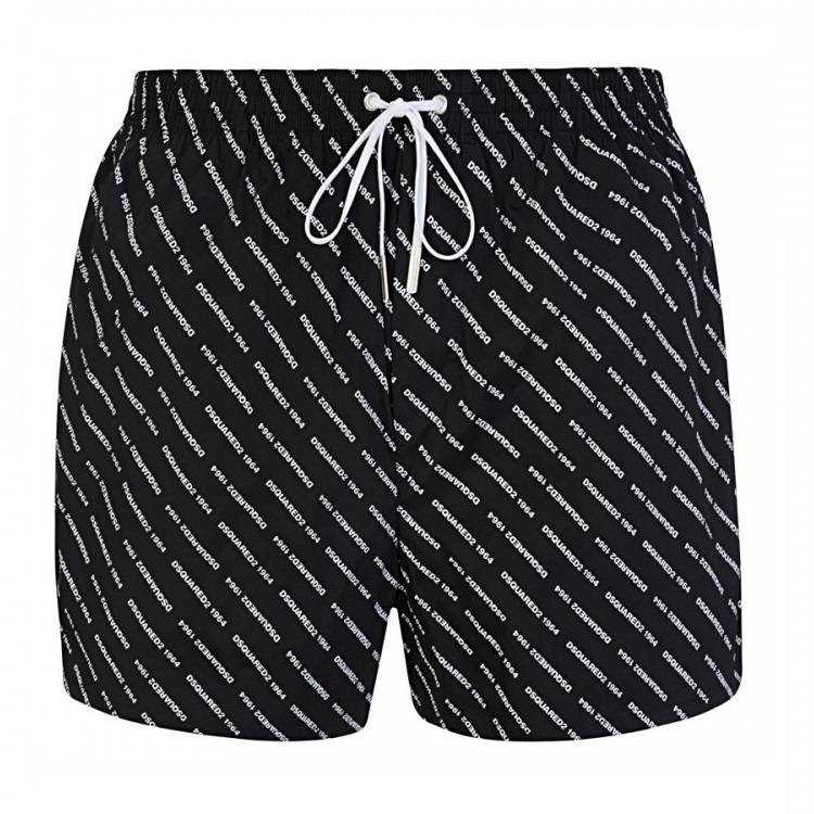 DSQUARED2 All Over Print Shorts Black HemingCo