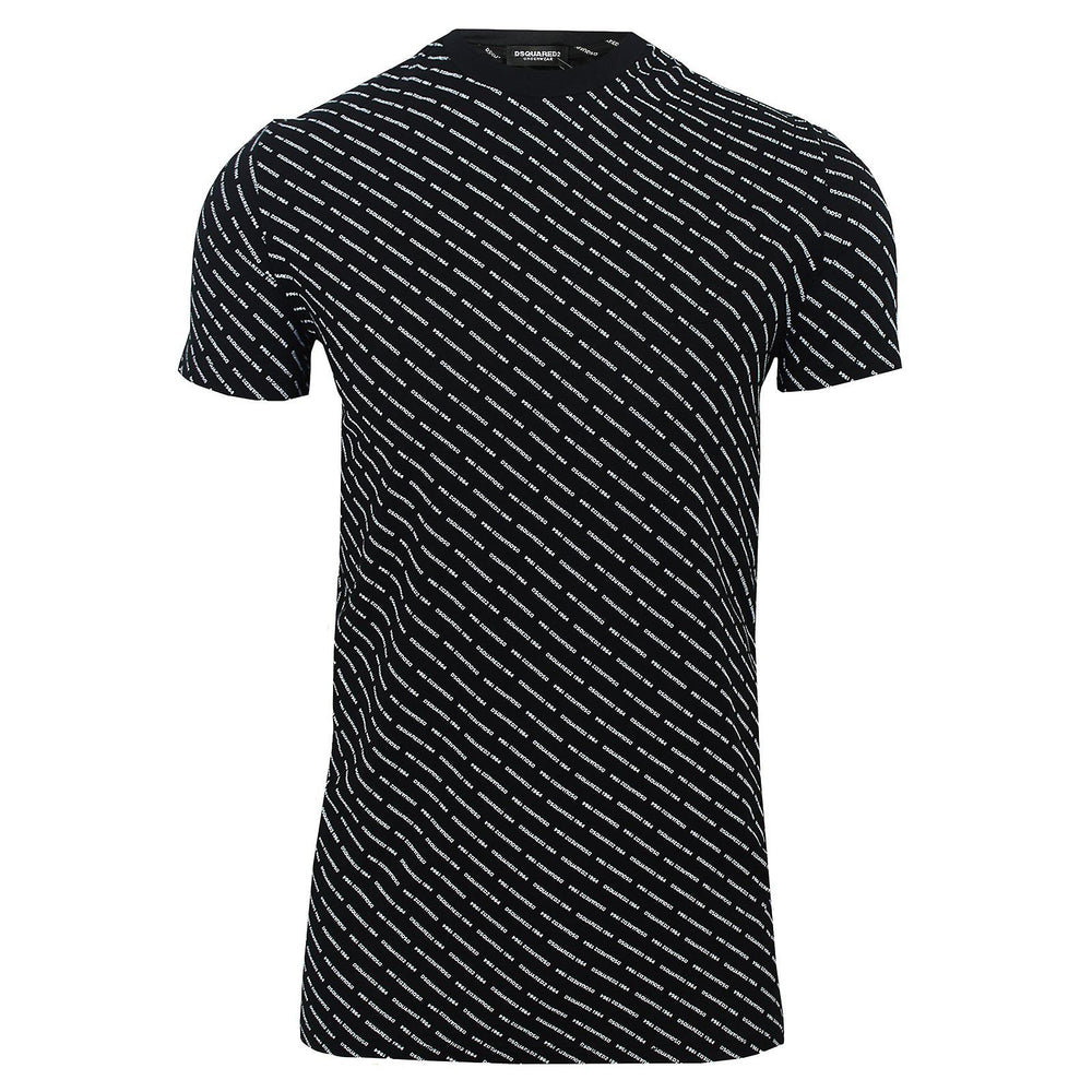 Load image into Gallery viewer, DSquared2 All Over Print T-Shirt Black HemingCo