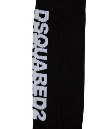 Load image into Gallery viewer, Dsquared2 Calf Print Socks Black HemingCo