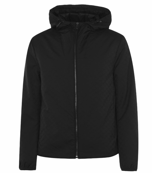Emporio Armani All Over Logo Jacket Black HemingCo