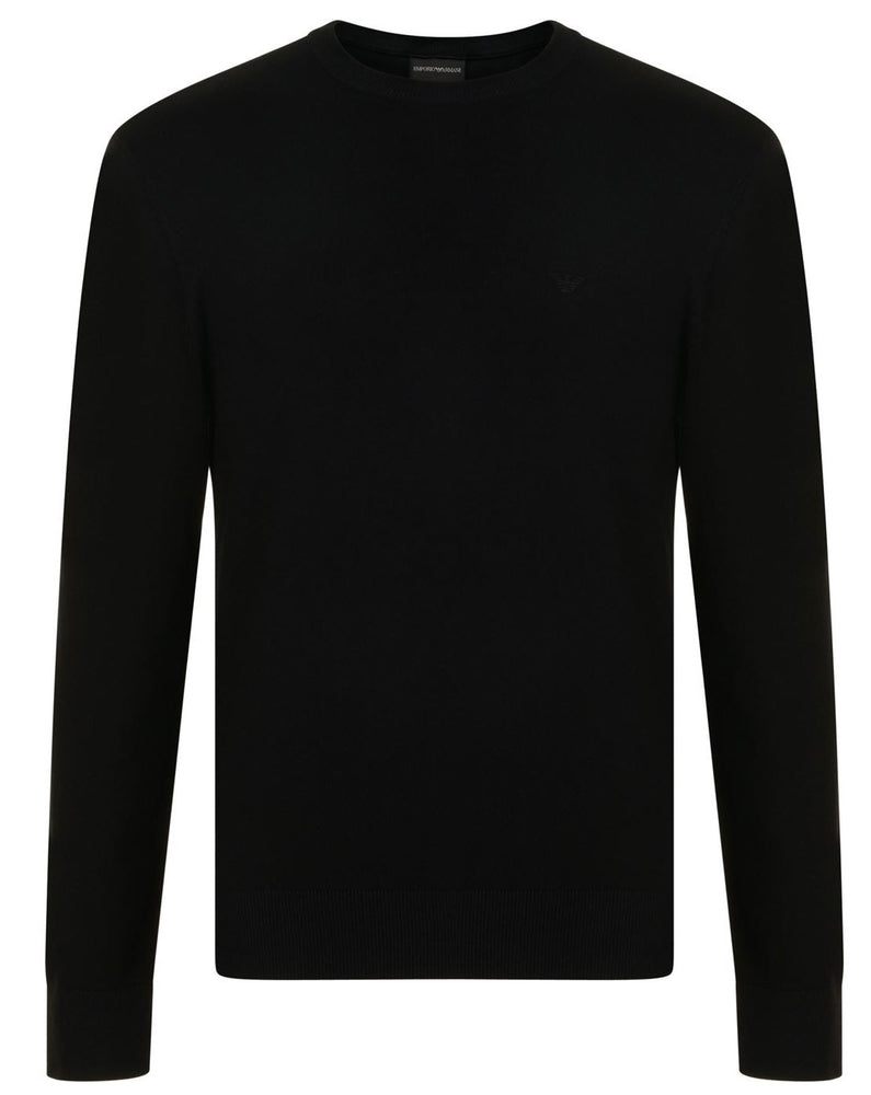 Emporio Armani Crew Neck Jumper Black HemingCo