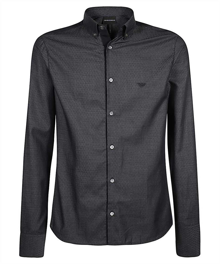 EA Diamond Pattern Shirt Navy HemingCo