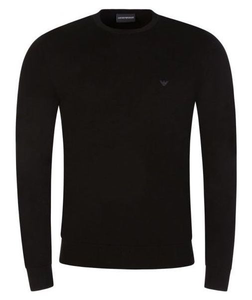 EA Embroidered Logo Jumper Black HemingCo
