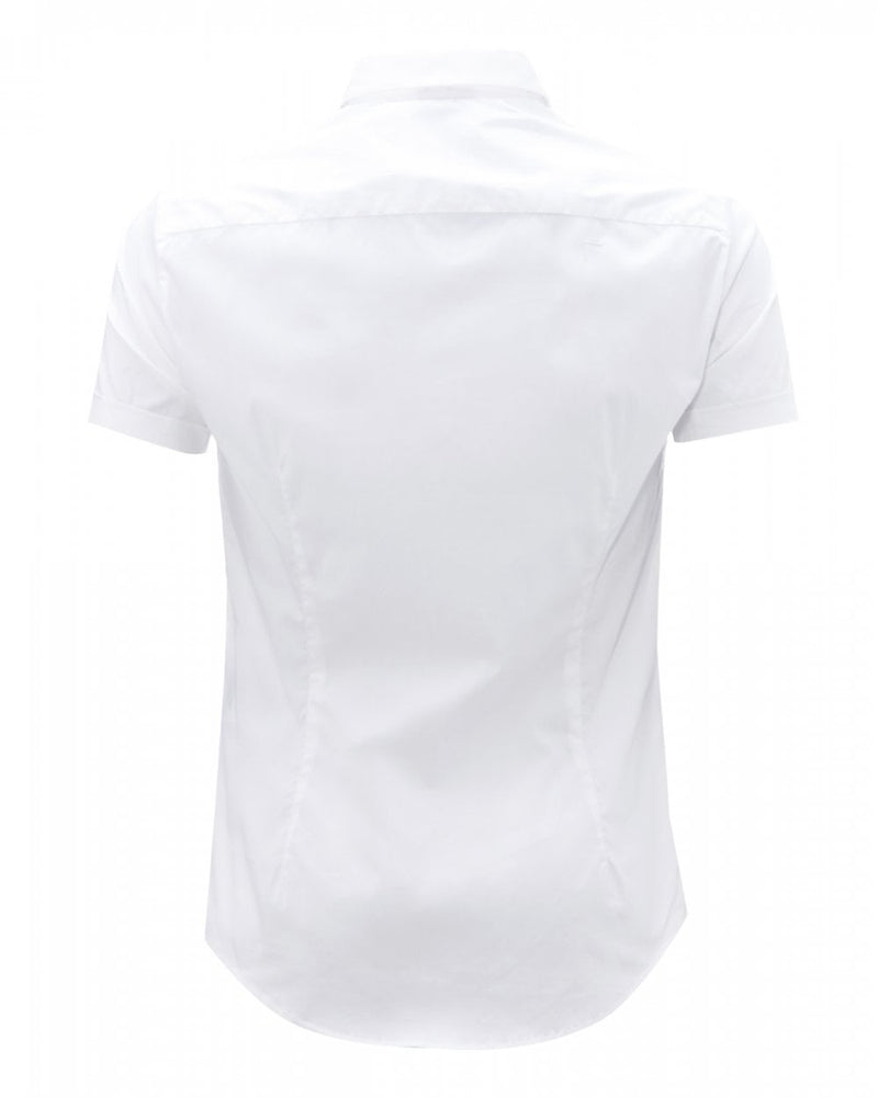 Load image into Gallery viewer, EA Fitted Plain S/S Shirt White Hemingco